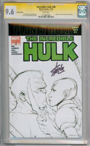Incredible Hulk #98 Sketch CGC 9.6 Signature Series Signed Stan Lee  Thor Movie Marvel Comic Book